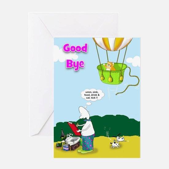 funny good bye Greeting Card
