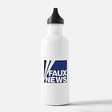 Faux News Water Bottle