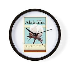 Travel Alabama Wall Clock
