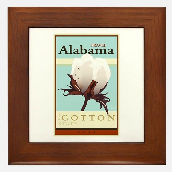 Travel Alabama Framed Tile