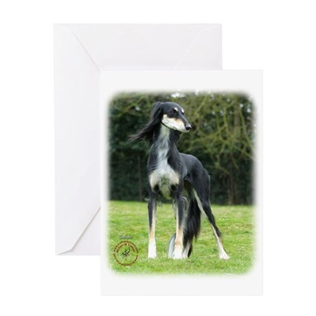 Saluki 8R012D-14 Greeting Card