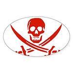 Pirates Red Sticker (Oval)