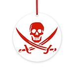 Pirates Red Ornament (Round)