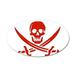 Pirates Red 38.5 x 24.5 Oval Wall Peel
