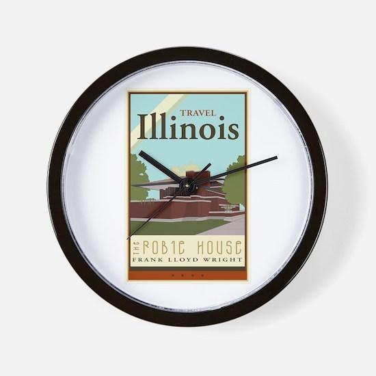 Travel Illinois Wall Clock