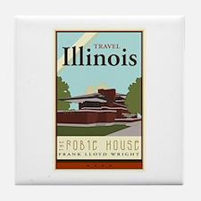 Travel Illinois Tile Coaster