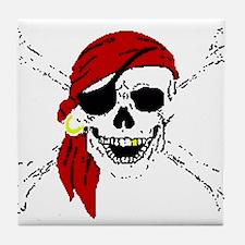 Pirate Skull Tile Coaster