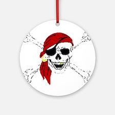 Pirate Skull Ornament (Round)