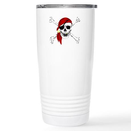 Pirate Skull Stainless Steel Travel Mug