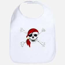 Pirate Skull Bib