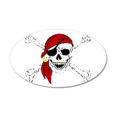 Pirate Skull 22x14 Oval Wall Peel