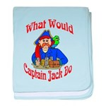 What Would Capt. JAck Do? baby blanket
