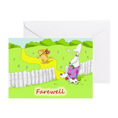 Funny farewell Greeting Cards (Pk of 10)