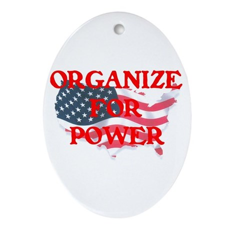 Organize for POWER Ornament (Oval)