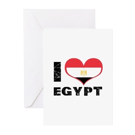I Heart Egypt Greeting Cards (Pk of 10)