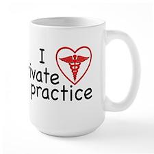 I Love Private Practice Large Mug