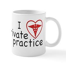 I Love Private Practice Small Small Mug