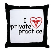 I Love Private Practice Throw Pillow