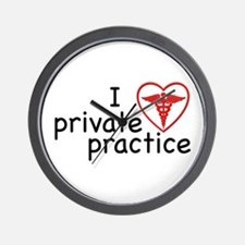 I Love Private Practice Wall Clock