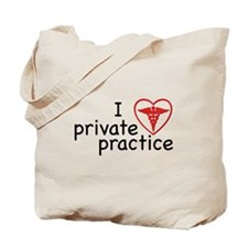 I Love Private Practice Tote Bag