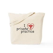 I Love Private Practice Tote Bag