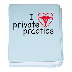 I Love Private Practice baby blanket
