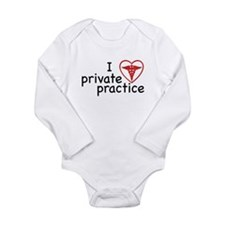 I Love Private Practice Long Sleeve Infant Bodysui