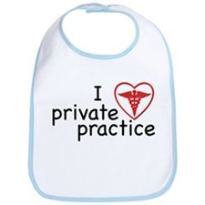 I Love Private Practice Bib
