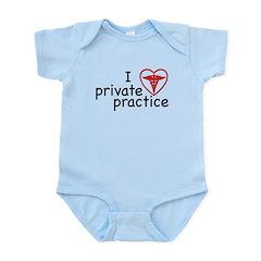 I Love Private Practice Infant Bodysuit