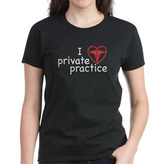 I Love Private Practice Women's Dark T-Shirt
