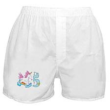 Rainbow Unicorn 5th Birthday Boxer Shorts