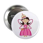 """Adorable Fairytale Princess 2.25"""" Button (100"""