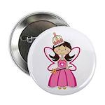 """Adorable Fairytale Princess 2.25"""" Button"""