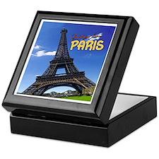 Vintage Travel Keepsake Box - Tour Eiffel