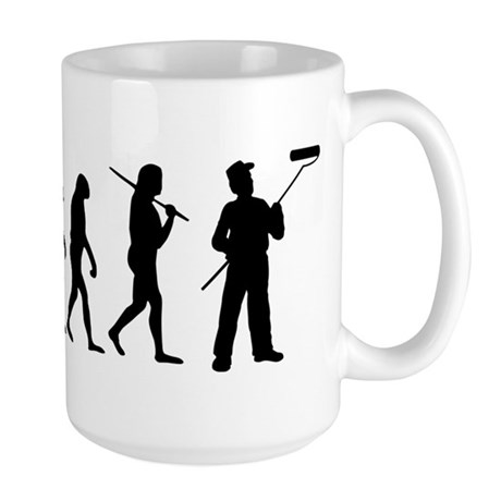 The Evolution Of The Painter Large Mug