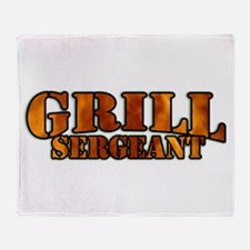 Grill Sergeant Throw Blanket