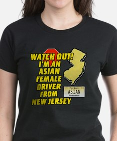 Asian Female Driver from NJ Tee