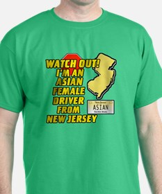 Asian Female Driver from NJ T-Shirt
