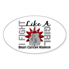 Licensed Fight Like A Girl 8.2 Brai Decal