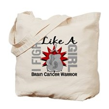 Licensed Fight Like A Girl 8.2 Brain Canc Tote Bag