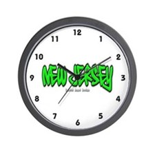 New Jersey Graffiti Wall Clock