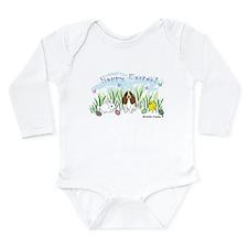 basset hound Long Sleeve Infant Bodysuit