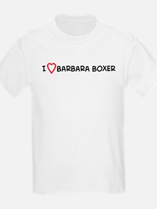 I Love Barbara Boxer Kids T-Shirt