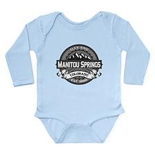 Manitou Springs Gray Long Sleeve Infant Bodysuit