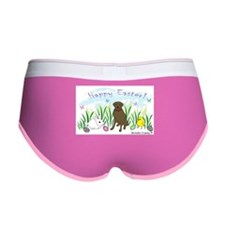 chocolate lab Women's Boy Brief