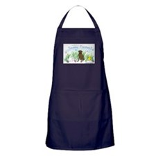chocolate lab Apron (dark)