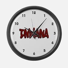 Indiana Graffiti Large Wall Clock