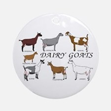 ALL Dairy Does Ornament (Round)
