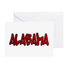Alabama Graffiti Greeting Card