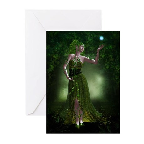 Green Fae Greeting Cards (Pk of 20)